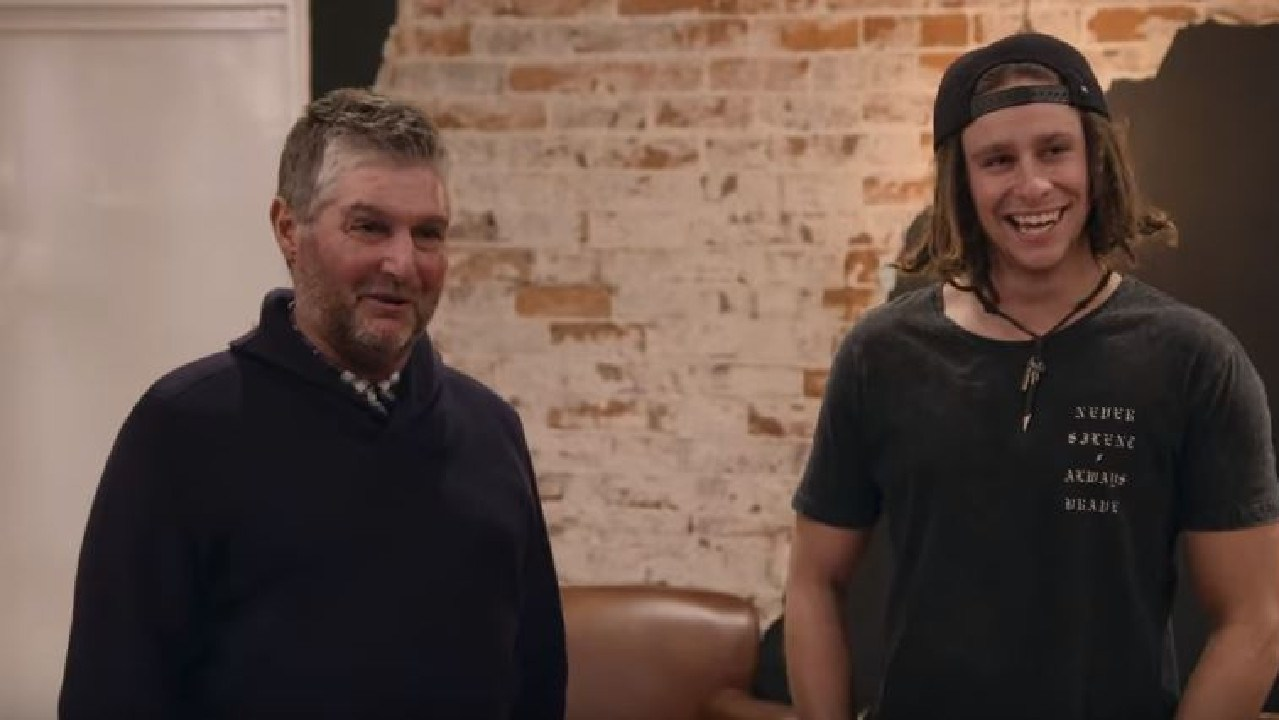 George and his son Levi on Queer Eye. Picture: Supplied/Netflix