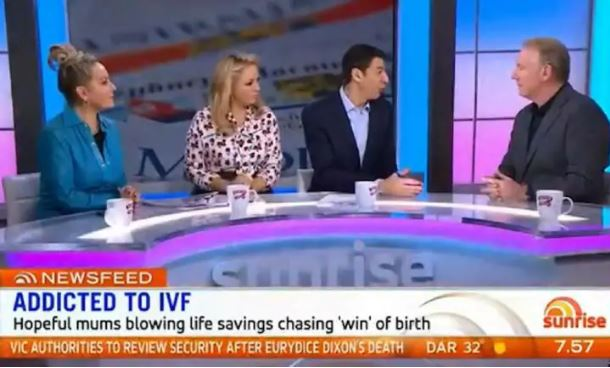 Sunrise compares IVF to gambling on the pokies