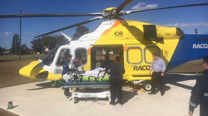 Man airlifted to Toowoomba after quad bike accident