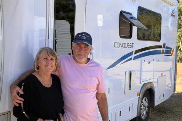 Colleen and Tony Fuhrmann enjoy visiting Rockhampton and staying at Kershaw Gardens as it provides everything they need.