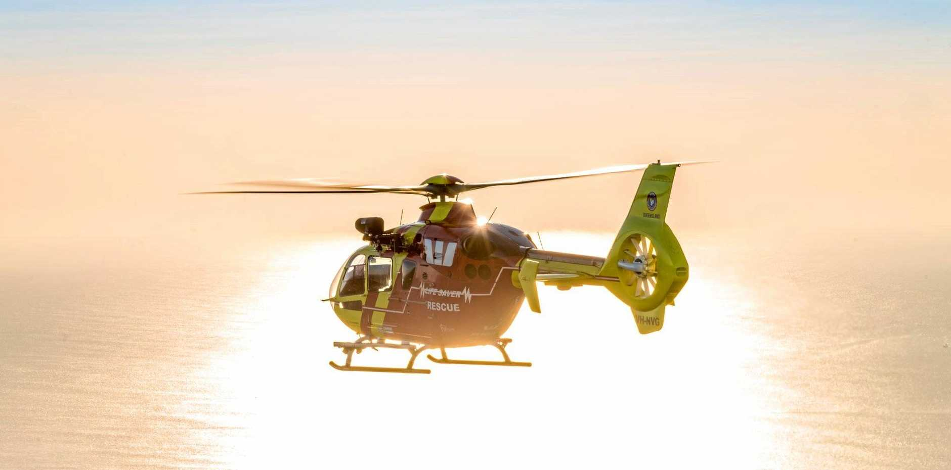 The Westpac Rescue Helicopter on another mission.