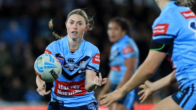 Maddie Studdon in action during the Women's State of Origin game between NSW and Queensland at North Sydney Oval. Picture: Adam Head