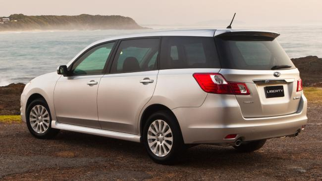 2009 Exiga wagon: Initially a six-seater, adding a seventh seat in 2012