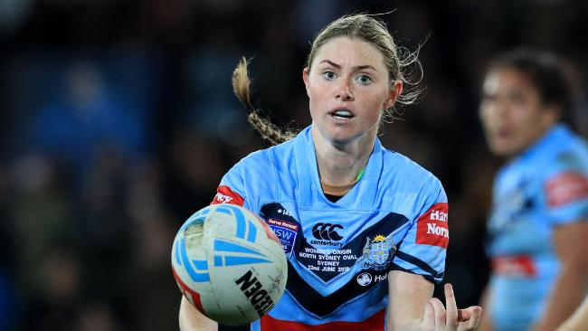 Maddie Studdon in action during the Women's State of Origin game between New South Wales and Querensland at North Sydney Oval. Picture: Adam Head
