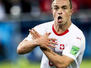 Secret meaning of hand signals by Swiss players
