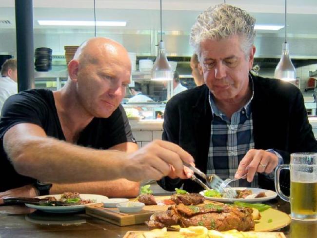 Australian Chef Matt Moran and Anthony Bourdain. Picture: Instagram