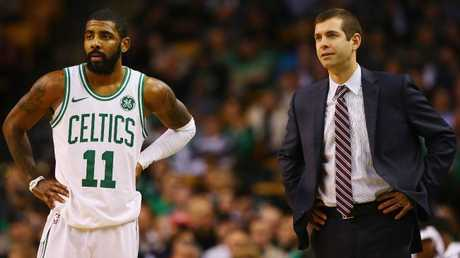 Brad Stevens took the Boston Celtics all the way to the Eastern Conference Finals, without the injured Kyrie Irving. Picture: Getty Images/AFP