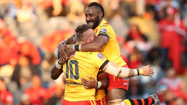 Papua New Guinea proved far too strong for Fiji at Campbelltown Sports Stadium. Picture: Brendon Thorne/Getty Images