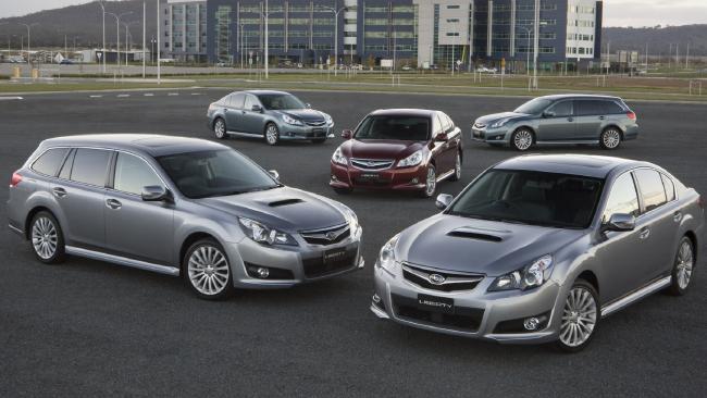 2010 Subaru Liberty range