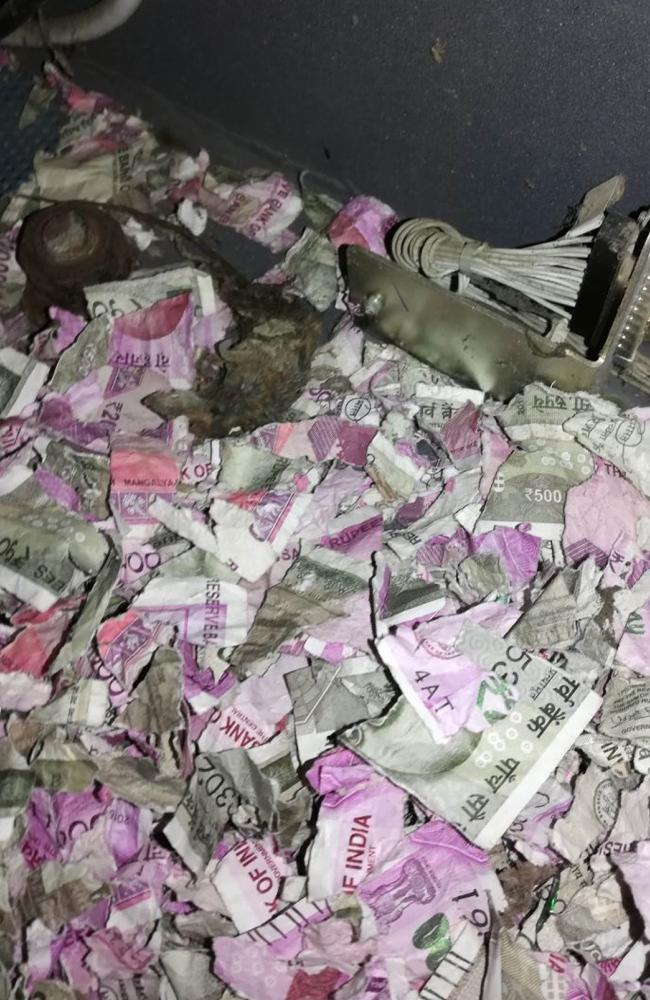 Indian police said rats nibbled through more than a million rupees of banknotes after busting into a cash machine in the country's northeast. Picture: AFP