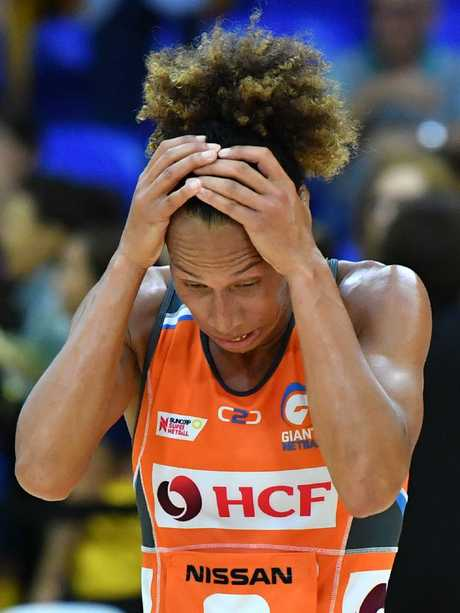 Serena Guthrie reacts at full-time. Picture: AAP