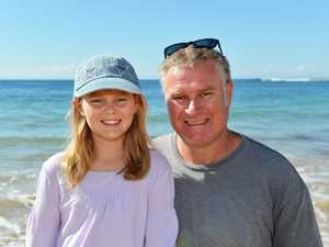 HOLIDAYS: Out and about at Moffat Beach are Bridget