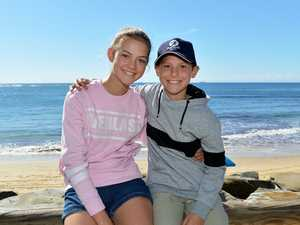 HOLIDAYS: Out and about at Moffat Beach are Tyra, 13