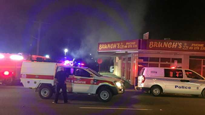 WATCH: North Rocky cafe hit by fire early this morning