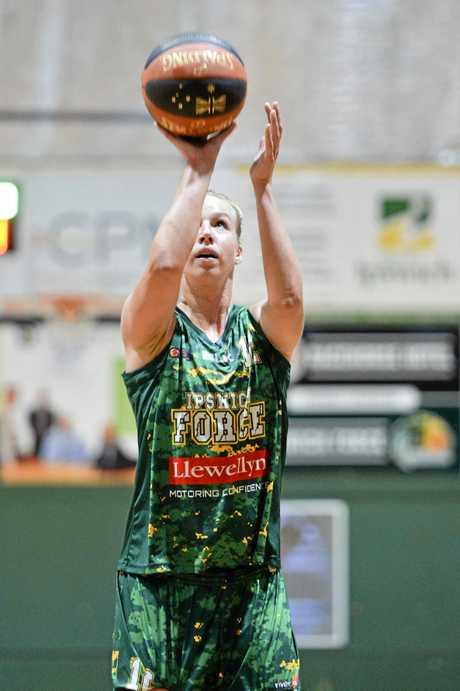 TOP SHOT: Ipswich Force basketballer Gintare Maziontye.