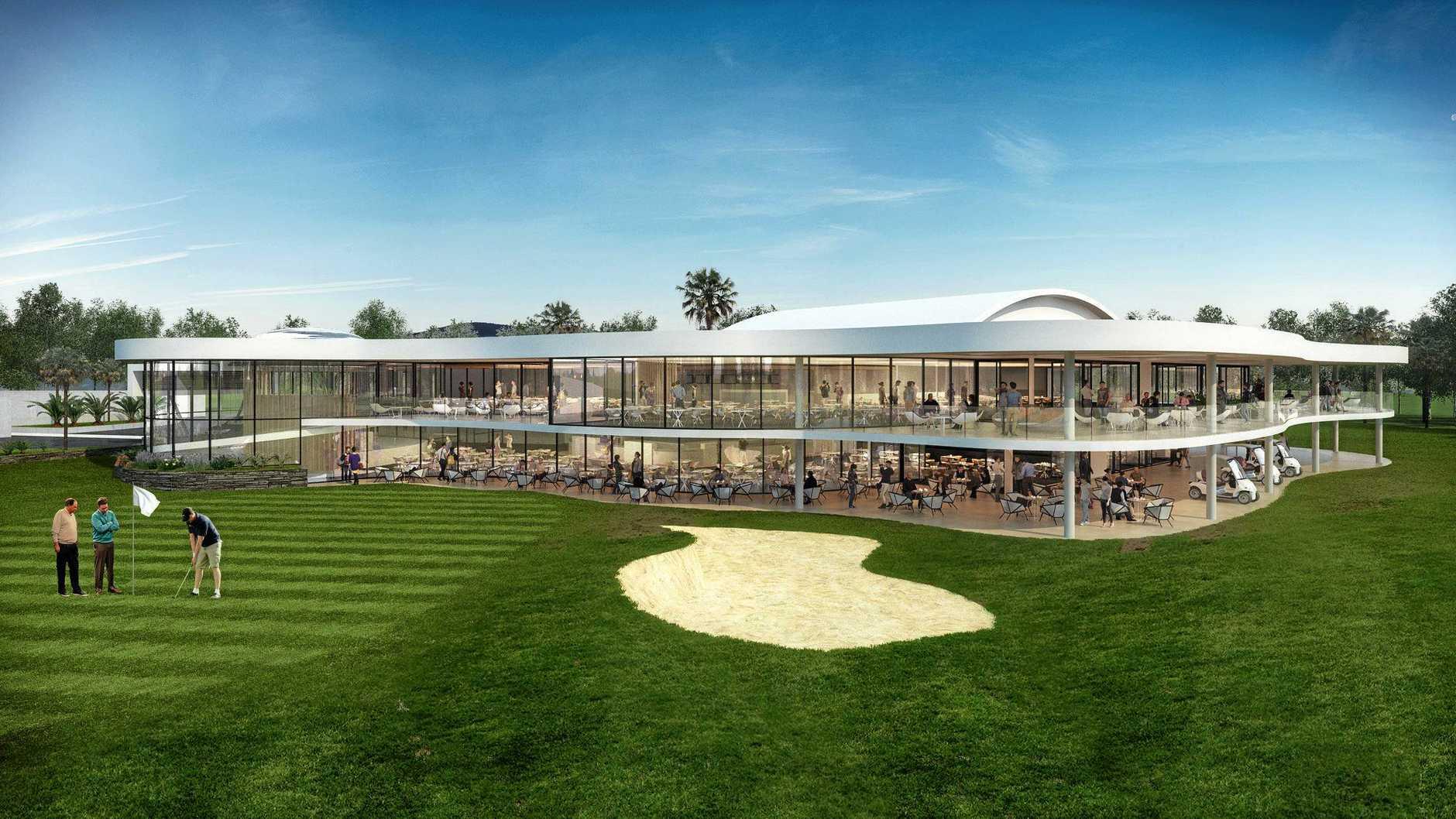 BIG PLANS: An artist's impression of Gympie RSL Club's proposed new golf club venue.