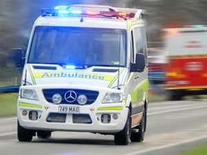 Man taken to hospital with serious leg injuries