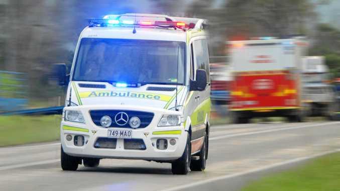 Man taken to hospital with serious leg injuries