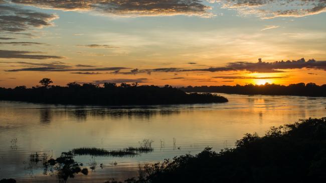 Sunrise over the Javari river in Amazonia. Picture: istock
