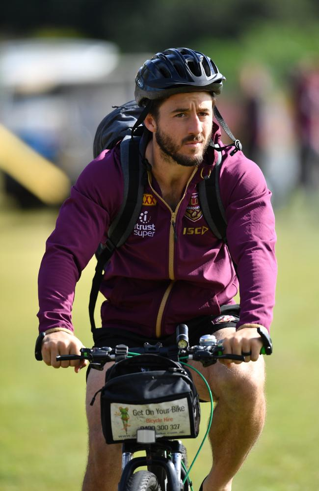 Ben Hunt going for a pedal. (AAP Image/Darren England)