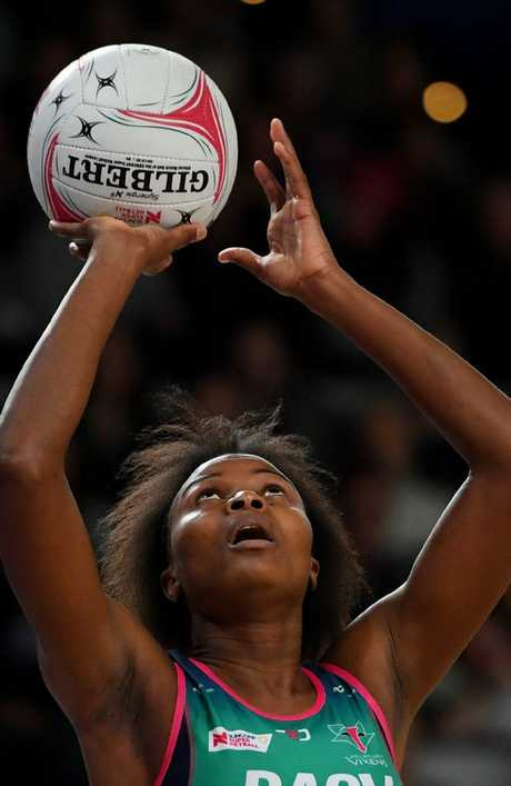 Mwai Kumwenda was in outstanding form under the net. Picture: AAP