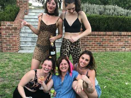 Natalie Joyce with her daughters Caroline, Bridgette, Julia and Odette. Picture: Facebook