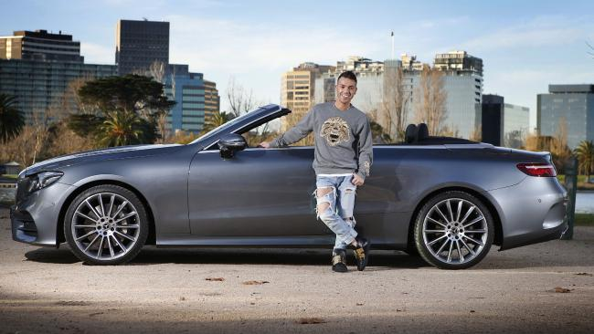 Anthony Callea and his Mercedes E300 cabrio