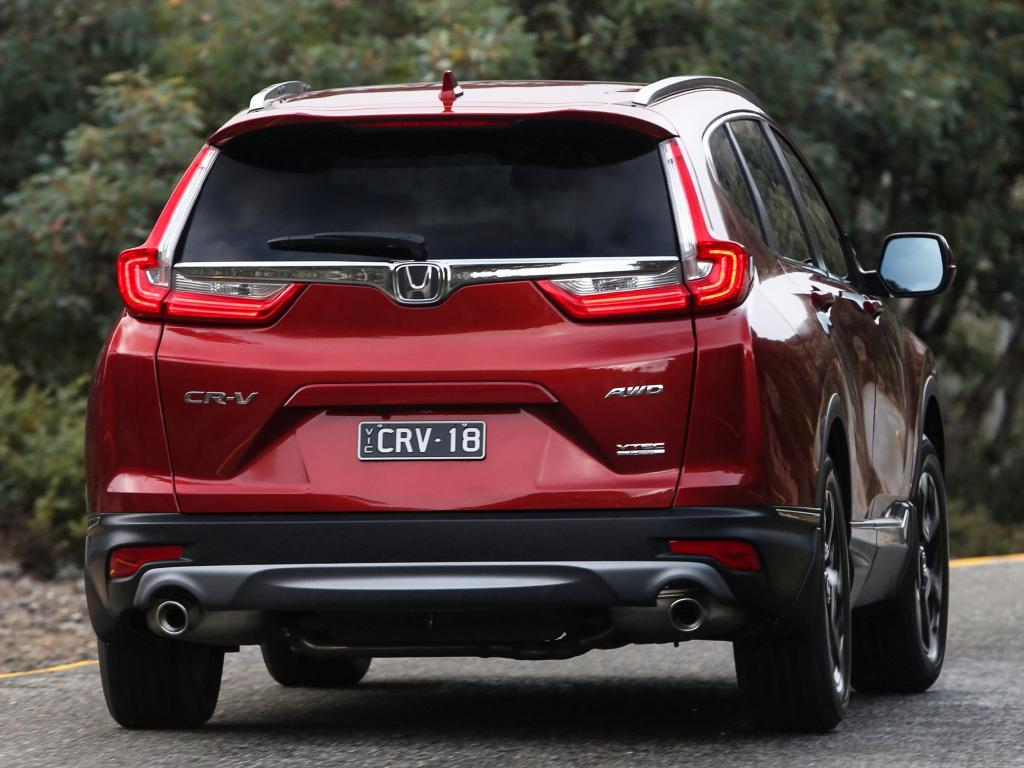 The CR-V's 522L cargo space is 50L down on the RAV4