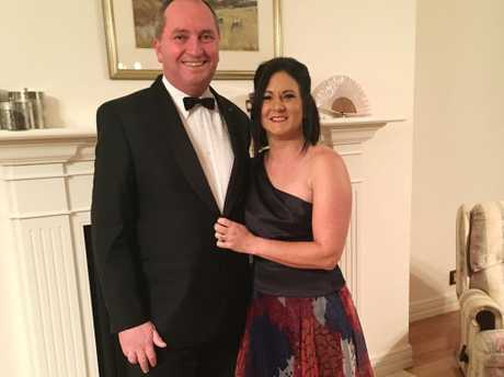 In happier times: Former Deputy Prime Minister Barnaby Joyce with wife Natalie.