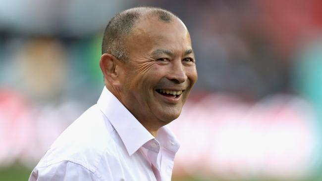 England coach Eddie Jones is all smiles after breaking a losing streak.