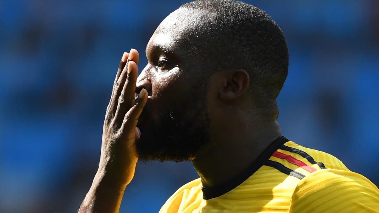 Romelu Lukaku grabbed a brace in the big win. Picture: AFP.