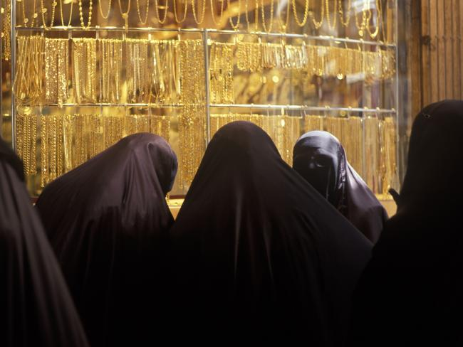Fatma and Sara said lingerie, gold, makeup and shoes were popular among Muslim women. Picture: Romano Cagnoni/Getty Images