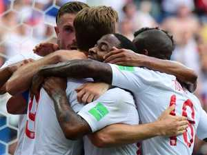 Kane hat trick lifts England to record win