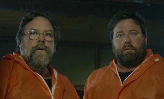 Clayton Jacobson and Shane Jacobson in a scene from Brothers' Nest.