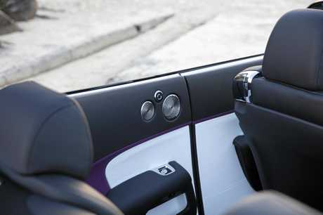 This Rolls-Royce Dawn Black Badge, finished in Belladonna purple, has a drive-away price of about $900,000.