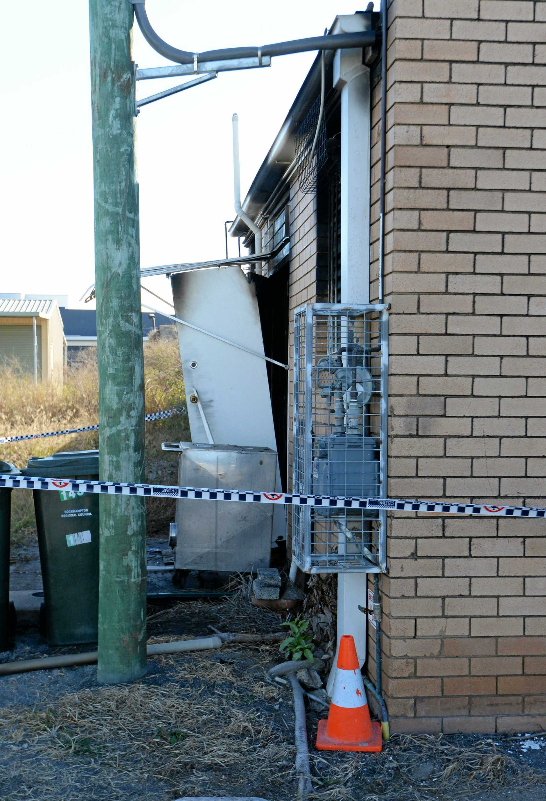 Police are investigating the cause of a suspicious fire which has gutted the Bruches cafe on Musgrave Street