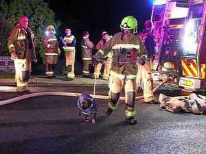 Family relieved to be reunited with dog after house fire