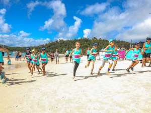Runners take to the sand in the Great Whitehaven Beach Run