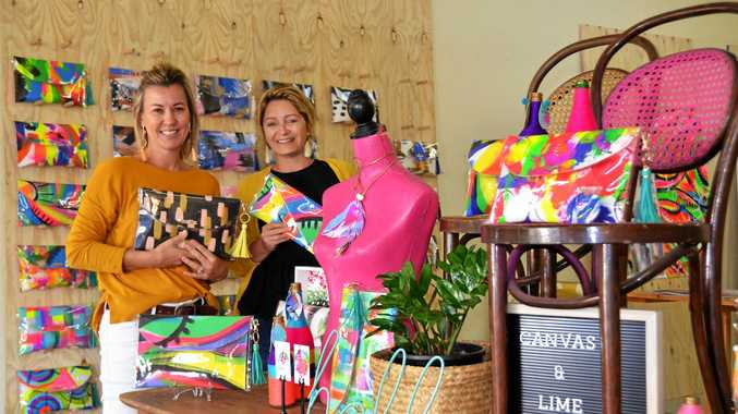 CANVAS & LIME: Kylee Young and Angela Goldie will launch their brand at Heartland Festival.