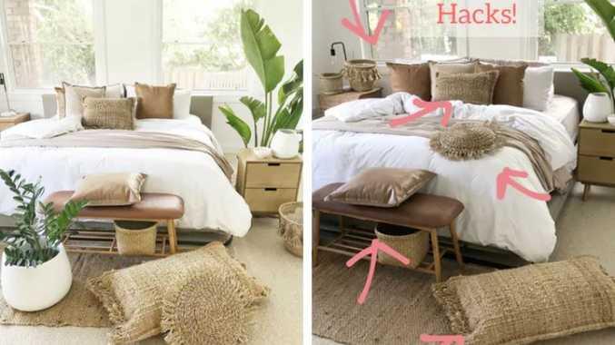 Mums incredible kmart bedroom hacks go viral chinchilla news mums incredible kmart bedroom hacks go viral gumiabroncs Gallery