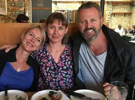 Mr and Mrs  Wallace with London Bridge terror attack survivor Candice Hedge (centre)