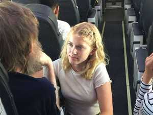 Teenage girl's incredible act for stranger on plane