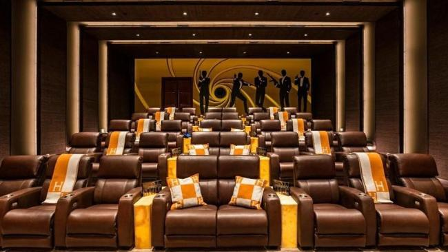 The in-house cinema puts many commercial ones to shame. Source: www.realtor.com