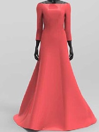 The dress replica comes in coral pink.