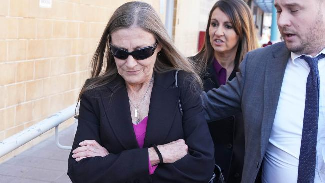 Nursing home employee Dana Maree Gray leaves Burwood Local Court, Sydney, Monday, June 25, 2018. Gray is charged with assaulting an 85-year-old patient. Picture: AAP /Ben Rushton.