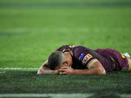 Will Chambers of the Maroons  after losing Game 2 of the 2018 State of Origin series.