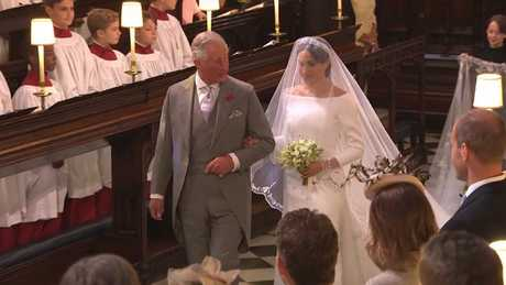 Prince Charles filled in for Thomas at the wedding. Picture: BBC