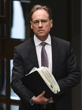 Health Minister Greg Hunt. Picture: AAP Image/Lukas Coch