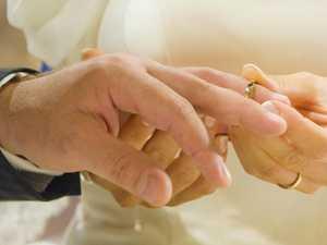 Bride twin's big wedding faux pas