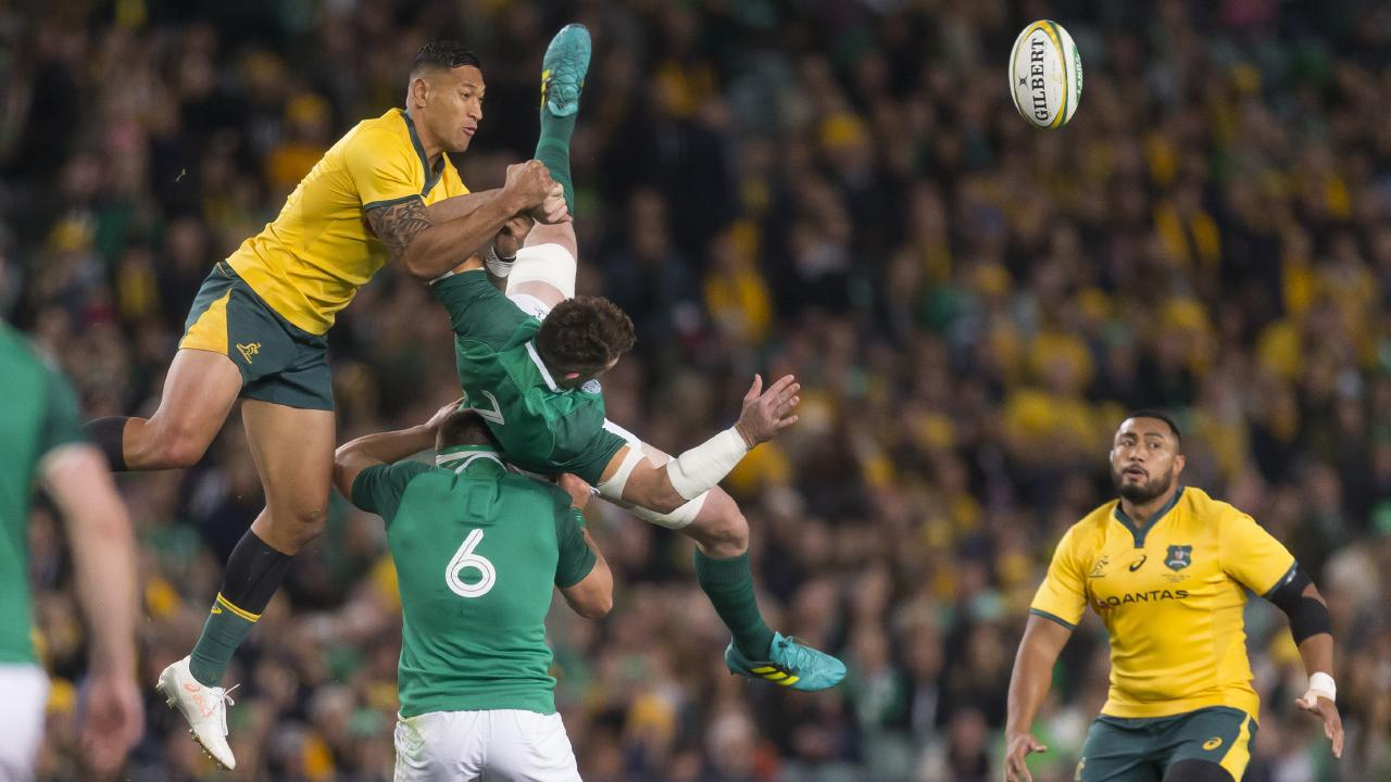 Waratahs assistant coach Simon Cron says rugby will have turned into a nanny state if Israel Folau is suspended for his aerial contests during the Wallabies' loss to Ireland.